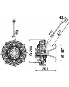 VENTILATOR VISKA 5412001222 MB ACTROS 1-3  fi237